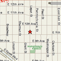 map to 930 Logan St.